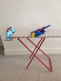 Kids ironing board and iron