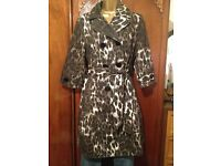 Ladies Leopard Print Raincoat