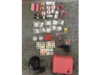 Complete acrylic nail kit + 2 UV GEL LAMPS + NAIL DRILL