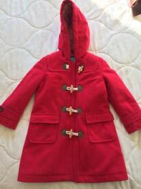 Girls Mini Bowden duffle coat 5-6 yrs