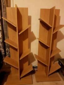 Tree shaped book/DVD shelves
