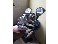 Hippo golf clubs and bag