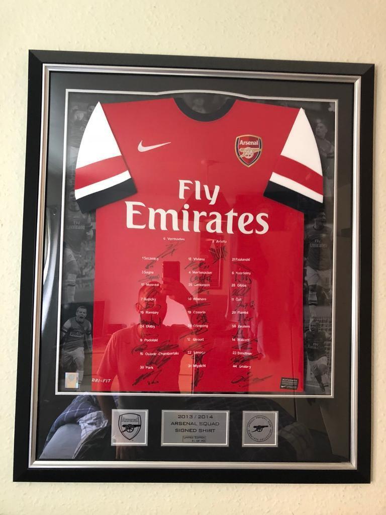 72f53793ae4 Arsenal signed squad 2013-2014 FA cup winners