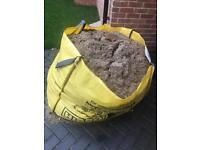 Free bag of soil / fine aggregate