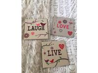 Canvas 'live, love, laugh'