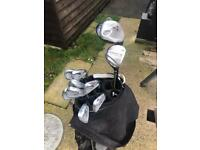 Full set of clubs. Srixon I-506 iron set 3 - PW Right Hand Steel Shafts, driver, 3 wood and putter