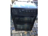 BLACK BEKO 60cm ELECTRIC COOKER FOR SALE, EXCELLENT CONDITION COMES WITH FOUR MONTHS WARRANTY