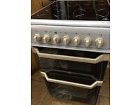 50cm indesit electric cooker with seperate grill, ceramic top ,in very nice condition
