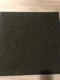 Black carpet tiles