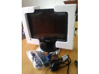 CCTV equipment hard wired system Samsung security LED monitor Ademco digital recorder 2 Xeno cameras