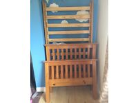 Julian Bowen Solid Wood Single Bed Excellent Condition