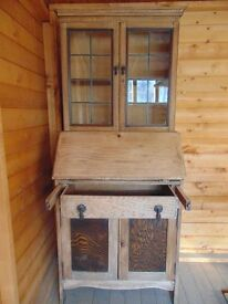 Jacobean solid oak cabinet bureau