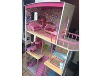 Dolls house and pictured accessories - Oakdale, Poole