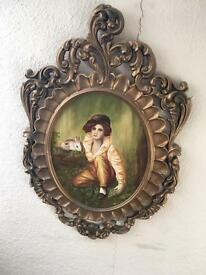 A lovely vintage retro picture frame and original oil painting! £5