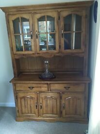 For Sale solid Oak Dining Room display cabinet.