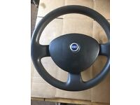 fiat punto 1.2 8v 2004 steering wheel and airbag 7353352420