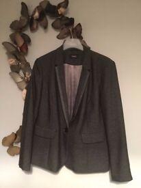 Next Grey Blazer / Jacket - Excellent condition Size 20