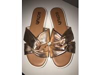 Gold sandals from schuh size 6