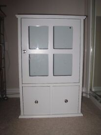 White melamine wall cabinet