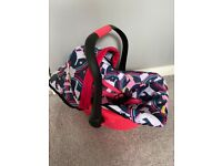 Childrens dolls carrier/car seat + carry cradle