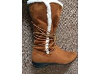 Women's Animal suede boots size 7