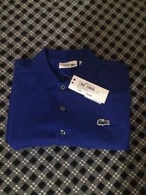 MENS SMALL SLIM FIT LACOSTE POLO SHIRT.