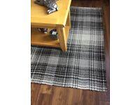Next grey/ charcoal checked rug