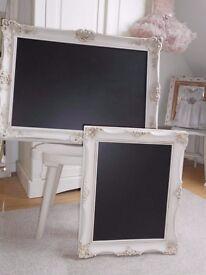Large Chalkboard in a Vintage Swept Frame.