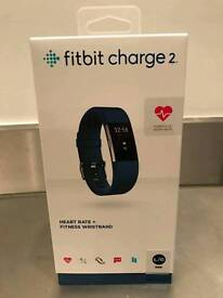 Fitbit charge 2 navy blue large