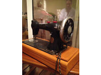 Vintage Sewing Machine In Suitcase