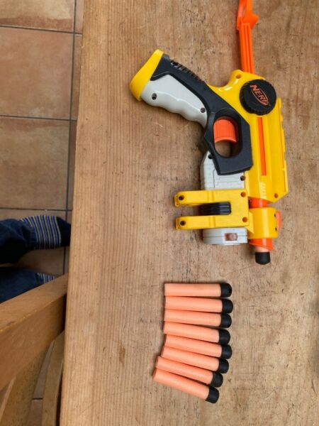Nerf Stampede ESC and Nerf Nitron Vortex plus Shield & Scope for sale  Goring, Oxfordshire