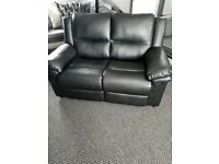 3 and 2 seater leather couches