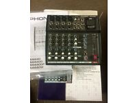 PHONIC AM440DP 8 Channel Compact Mixer +USB Player