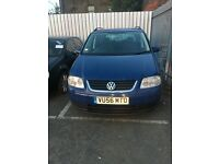 **** cheap blue Volkswagen touran for sale ***