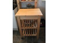 Excellent Condition Ikea BEKVÄM Solid Birch Kitchen Trolley Island