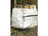 Insulation board cut off 100 mm 50 mm 25mm builders bag full