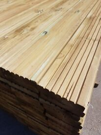 Decking boards £2 per metre pressure treated green