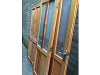 Internal wooden doors, 3 with glass panels, brushed steel handles included