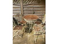 Garden patio furniture Shabby chic rusted reclaimed look