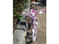 Girls pink cupcake bike