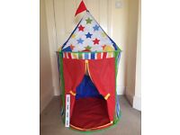 Child Play Tent - circus style.