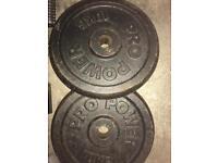 2 x 10kg Standard Weight plates