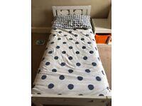 White Ikea Kritter toddler bed