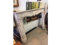 Louis style marble effect fire surround