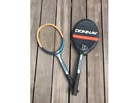 2 Vintage Donnay tennis racquets