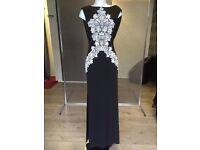 Black & White Long Prom Dress Dress Size 8 - 10