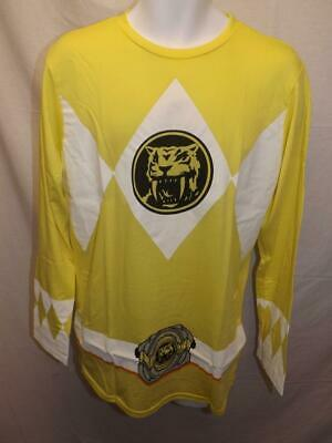 New Mighty Morphin Power Rangers Adult Mens L-XL-2XL Yellow Shirt Costume](Yellow Mighty Morphin Power Ranger Costume)