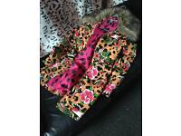 Iron fist coat size small and matching shoes size 5