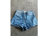 River Island denim shorts size 6