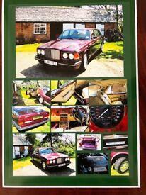 Bentley Turbo R, 1994 £15000. Colour Wildberry. Excellent condition. 61000 miles. FSH. Recent MOT